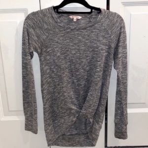 juicy couture crewneck knotted sweater